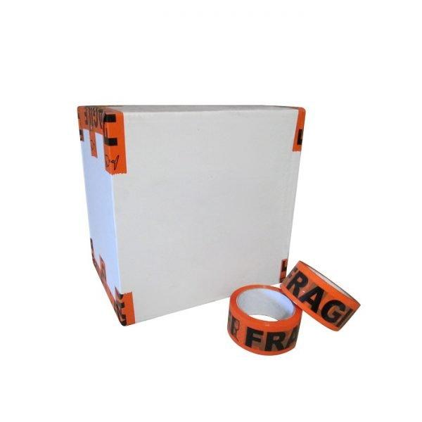 Printed-Tape-Fragile-Budget-Orange - Tape-Fragile-Acrylic-48mm-Orange-Box-Rolls